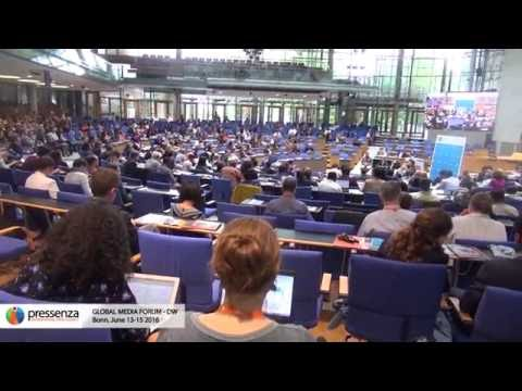 Pressenza at the Deutsche Well, Global Media Forum 2016
