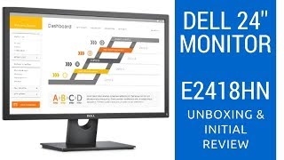 unboxing Dell E2418HN - LED monitor- Full HD (1080p) - 24