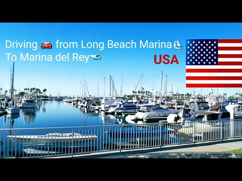 Dash Cam Tours 🚘 Driving on California Freeway From Long Beach Marina to Marina Del Rey