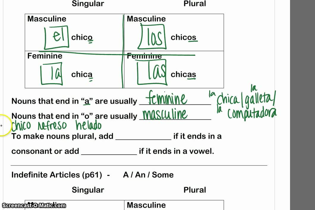 what is a definite article in spanish