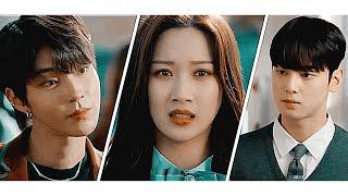 Okulun popüler çocukları aynı kıza aşık oldu // Kore Klip - Bunalım  True Beauty - Yeni Dizi