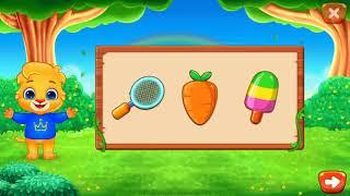 Собираем веселые пазлы в игре Puzzle kids уровень Drag pictures