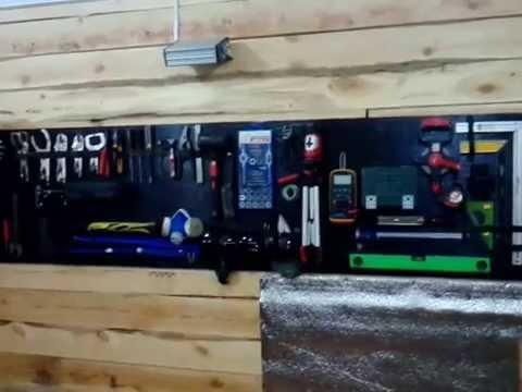 видео: место хранения инструмента в гараже своими руками