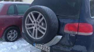 Volkswagen touareg 2.5 TDI start in freezing cold winter weather -21,5