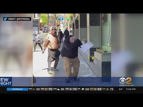 NYPD Detective Attacked By Man With Stick