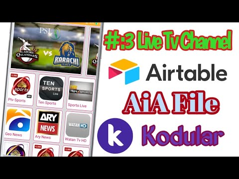 #3 Professional Live TV Channel App Airtable Connect Aia File With Admin Panel Kodular