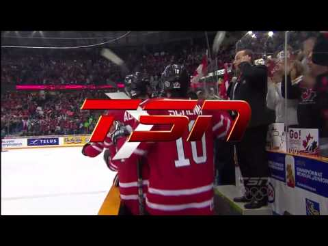 2010 IIHF World Junior - Jordan Eberle Goal - USA 5 - Canada 5 - Gold Medal - Jan 5th 2010 (HD)