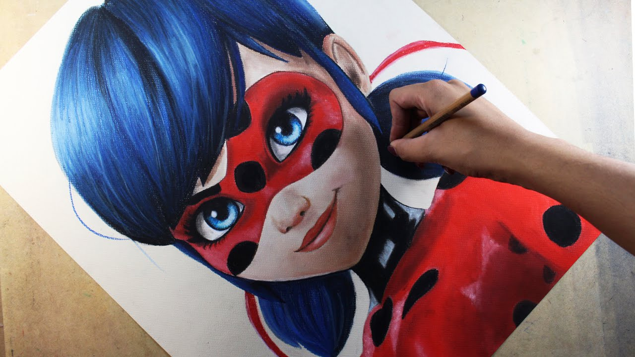 Speed drawing ladybug miraculous ladybug diana d az for Disegni da colorare lady bug