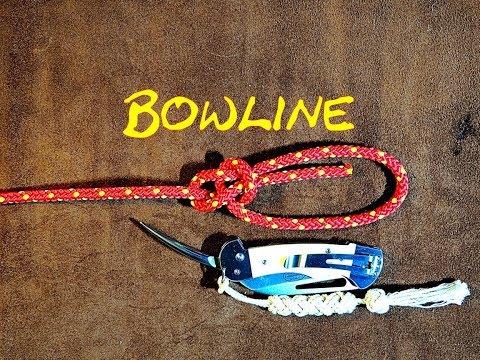 Bowline, Dutch Bowline, Cowboy Bowline - Bowline How to Tie - Quick Tie Bowline Tutorial