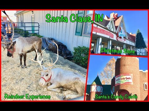 A Day In Santa Claus, IN: Reindeer Experience, Christmas Store, Santa's Candy Castle