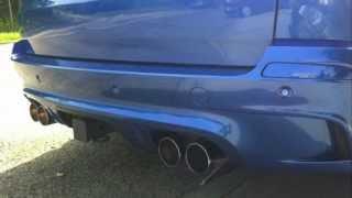 BMW X5M Megan Racing Exhaust Upgrade (Before/After)