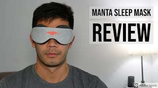 Manta Sleep Mask Review - Work for Side Sleepers? No Lights Gets In?