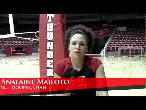 2012 SUU Volleyball Profiles - Analaine Mailoto