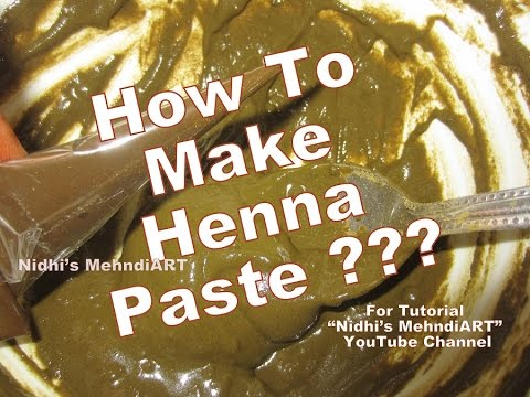 Mehndi Henna Ingredients : How to make henna paste and apply skin