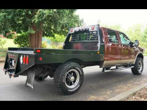 2007 Ford F 350 Lariat 4x4 Crew Cab Flat Bed Conversion
