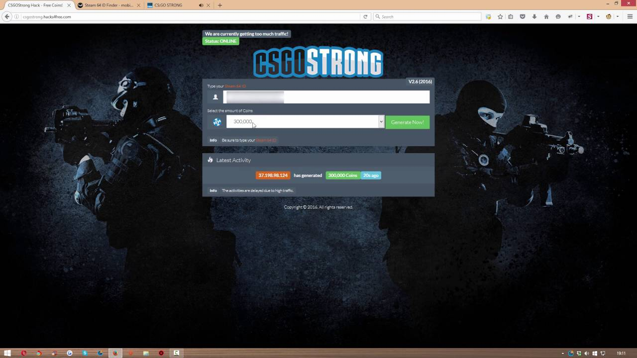 csgostrong free coins