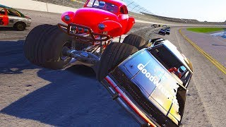 MONSTER TRUCK NASCAR MADNESS AT TALLADEGA! - Next Car Game Wreckfest Monster Truck Mod