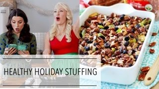 Healthy HOLIDAY STUFFING Recipe | Dairy Free High Protein Christmas Side Dish