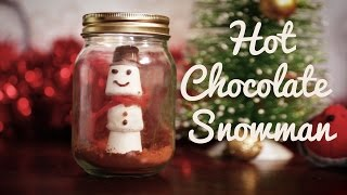 CHRISTMAS COUNTDOWN | Marshmallow Snowman Snowglobe - In A Jar!