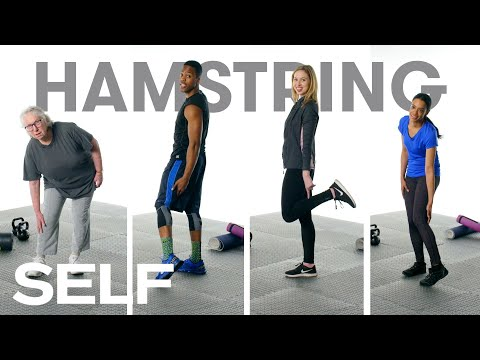 60 People Try to Stretch Their Hamstrings | SELF