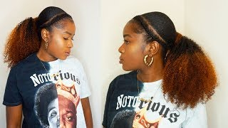 HOW TO DYE A DRAWSTRING PONYTAIL + HAIR TUTORIAL ON SHORT 4C NATURAL HAIR!BetterLength|MONA B.