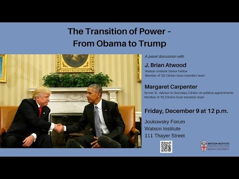 The Transition of Power ─ From Obama to Trump