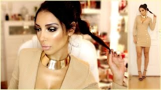 Get Ready With Me ✰Look de soirée Gold !