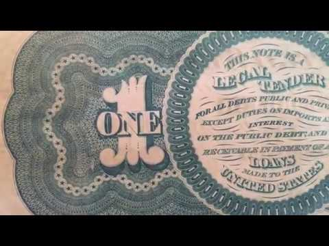 The First $1 Printed By Our Government 1862 $1 Legal Tender Note