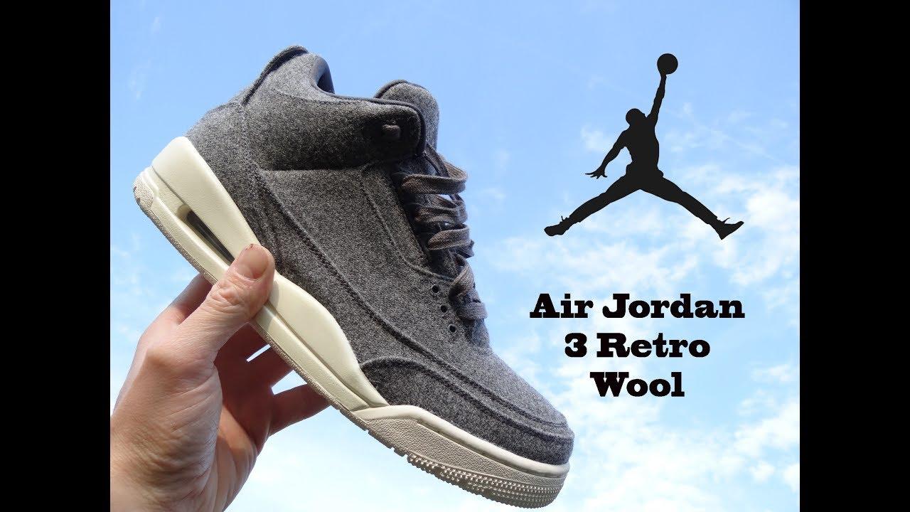 Air Jordan 3 Retro Wool Review - YouTube
