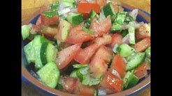 How To Make Salad Shirazi & Persian Dressing