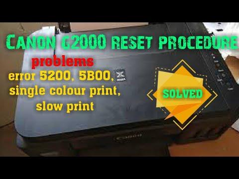canon g2000 reset error 5200 5B00 / canon g2000 6 blink 7 blink solution