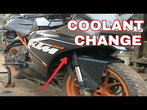 ktm rc 200 coolant change ||BS BIKER 😊😊😊😊