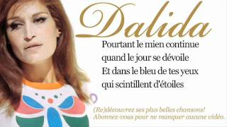 Dalida - Dans le bleu du ciel bleu - Paroles (Lyrics)