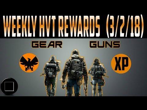 The Division - Weekly HVT Rewards