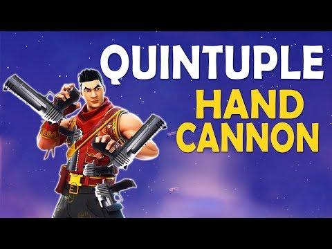 QUINTUPLE HANDCANNON | HANDCANNON ONLY CHALLENGE | 5 DEAGLES - (Fortnite Battle Royale)