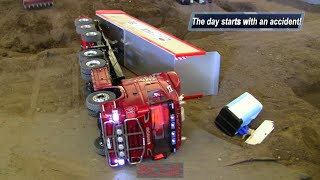ACCIDENT of RC TRUCKS a. CONSTRUCTION MACHINES at RCTKA März 2016 - part 1