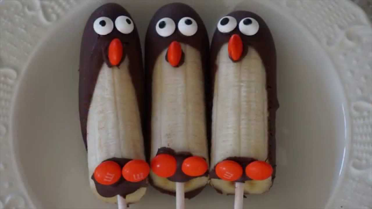 How To Make Frozen Banana Penguins Of Madagascar Pop