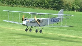 GIANT SCALE RC AIRSPEED COURIER AND HANDLEY PAGE W10 - AIRBORNE REFUEL-ER LMA MUCH MARCLE
