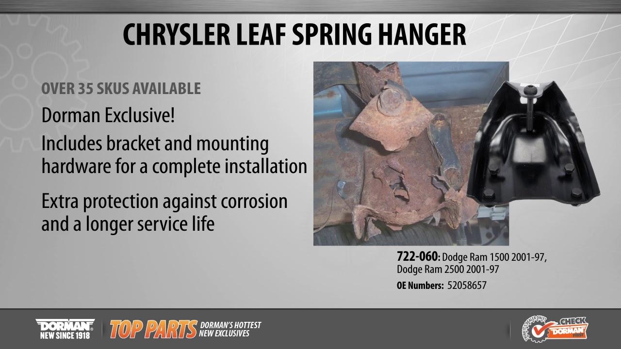Dorman 722-060 Rear Position Leaf Spring Bracket Kit