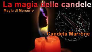 La magia con le candele Mercurio candela Marrone contratti,intelletto, mente, notizie scritte.