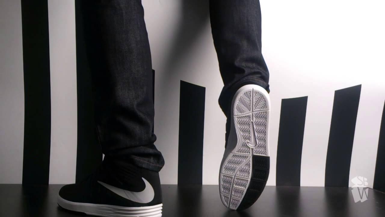Nike sb PAUL RODRIGUEZ CITADEL MID black metallic silver white 705181 001 -  YouTube