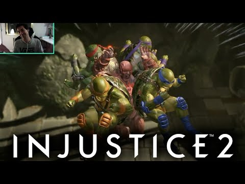 INJUSTICE 2: VIDEO REACCION TORTUGAS NINJA