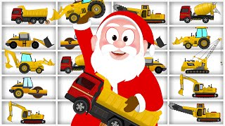 Learn Construction Vehicles with Santa Claus | Dump Trucks | Excavator | Videos for Children