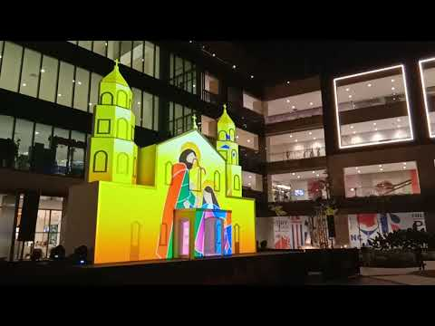 AYALA MALLS MANILA BAY   3D MAPPING LIGHTSHOW   A NIGHT OF LIGHT   CHRISTMAS