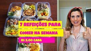 R$ 5,00 POR ALMOÇO -  MARMITA FITNESS DA SEMANA TODA #2 - Drika Magrafit