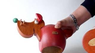Wooden Money Box - Fox