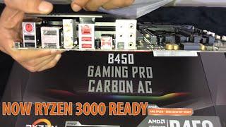 "Unboxing: MSI B450 Gaming Pro Carbon AC Now ""AMD RYZEN 3000 DESKTOP READY"""