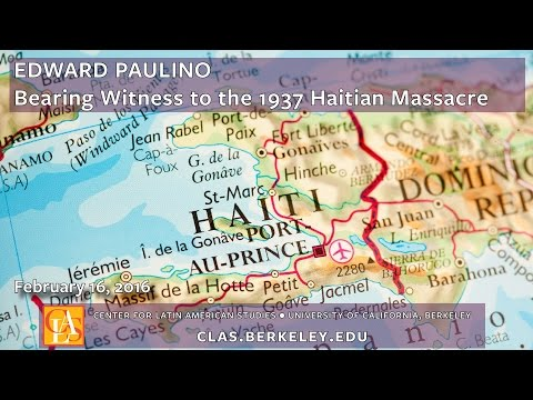 Bearing Witness to the 1937 Haitian Massacre