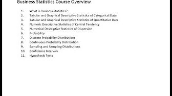 Business Statistics - YouTube