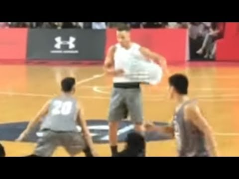 Steph Curry FAKES OUT Chinese Players with AND1 Style Streetball Moves